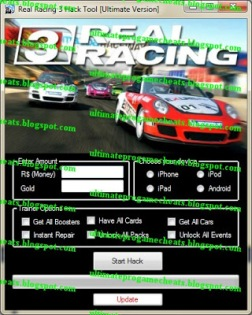 real racing 3 unlock all cars hack android